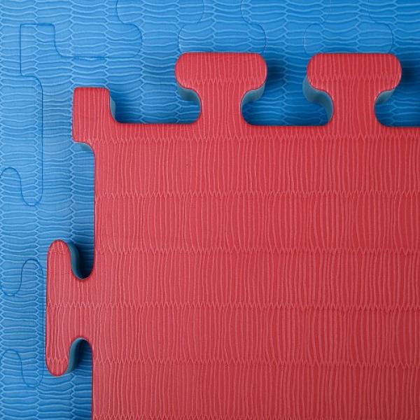 Tatami Economic 100 x 100 x 4 cm X-gym modro-červené detail