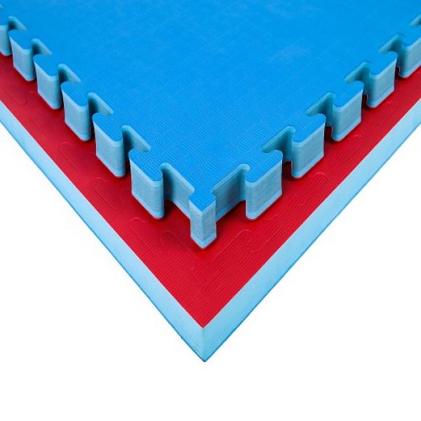 Tatami Economic 100 x 100 x 4 cm X-gym modro-červené