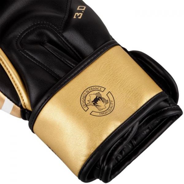 Boxerské rukavice Challenger 3.0 VENUM bíločernozlaté - detail 3