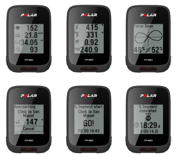 polar m460 displays