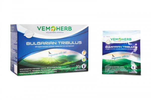 VEMOHERB Tribulus Terrestris Instant drink borůvka 30 x 5 gramů 2