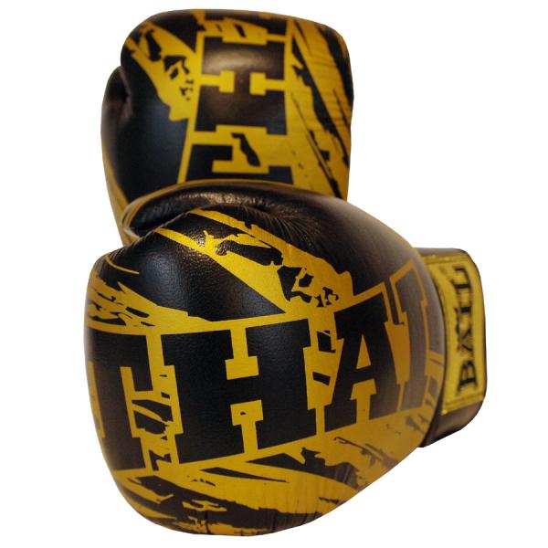 BAIL boxerské rukavice Thaibox Gold Thai detail