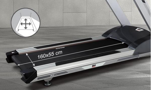 Běžecký pás BH Fitness LK6200 rozměry