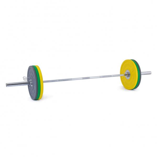Olympijská činka TRINFIT 80 kg Bumper CrossGym 3