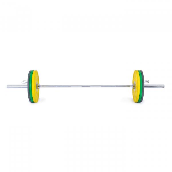 Olympijská činka TRINFIT 80 kg Bumper CrossGym přední