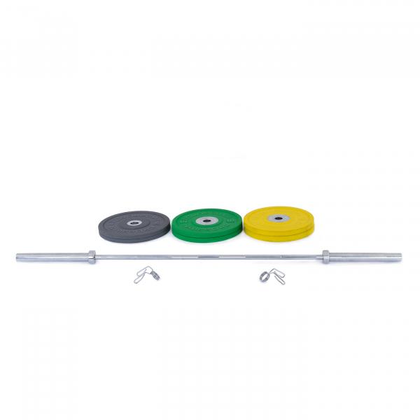 Olympijská činka TRINFIT 80 kg Bumper CrossGym složení