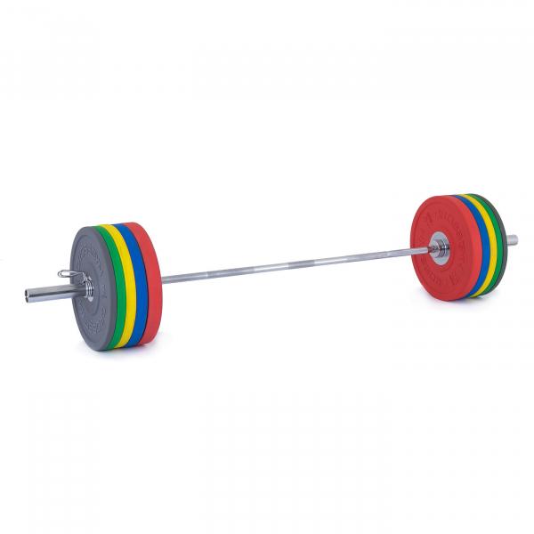 Olympijská činka TRINFIT 170 kg Bumper CrossGym 3