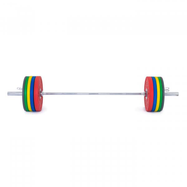 Olympijská činka TRINFIT 170 kg Bumper CrossGym přední