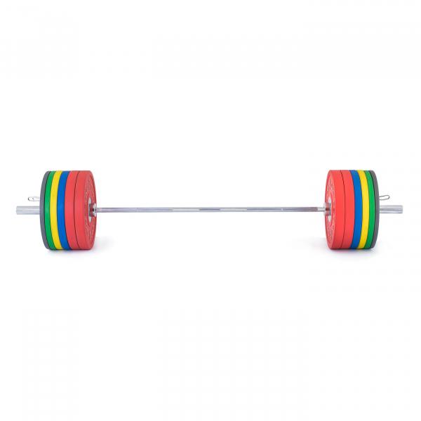 Olympijská činka TRINFIT 230 kg Bumper CrossGym přední
