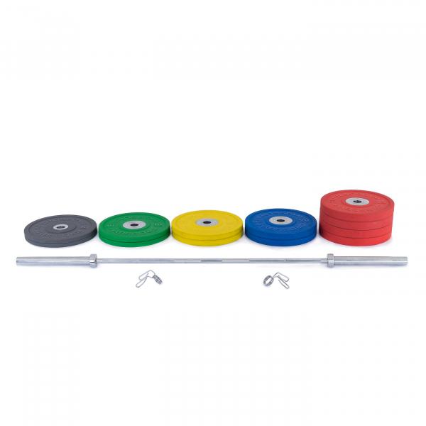 Olympijská činka TRINFIT 230 kg Bumper CrossGym složení