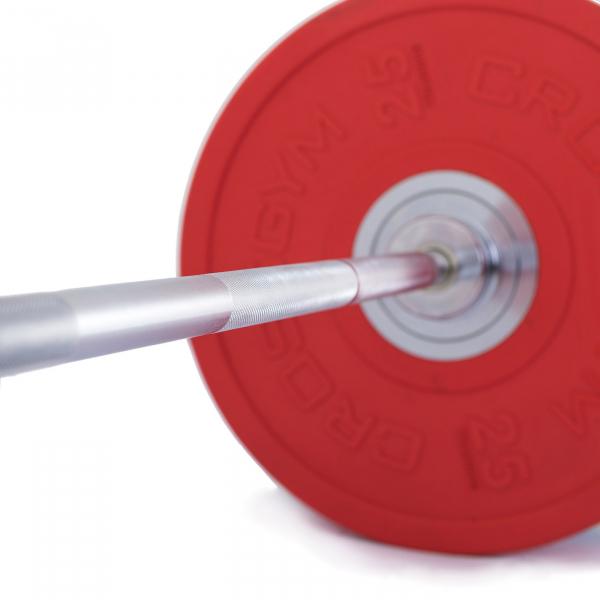 Olympijská činka TRINFIT Bumper CrossGym červená