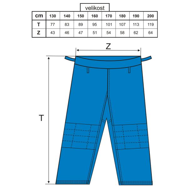 BAIL kimono JUDO STANDARD modré kalhoty velikosti