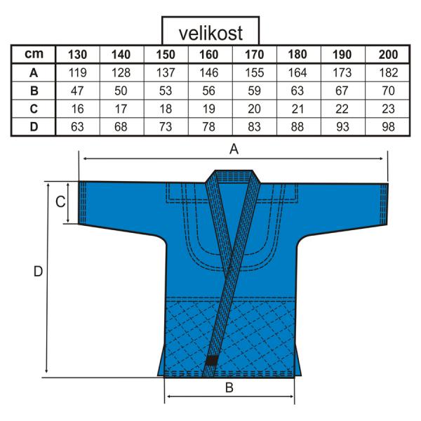 BAIL kimono JUDO STANDARD modré velikosti