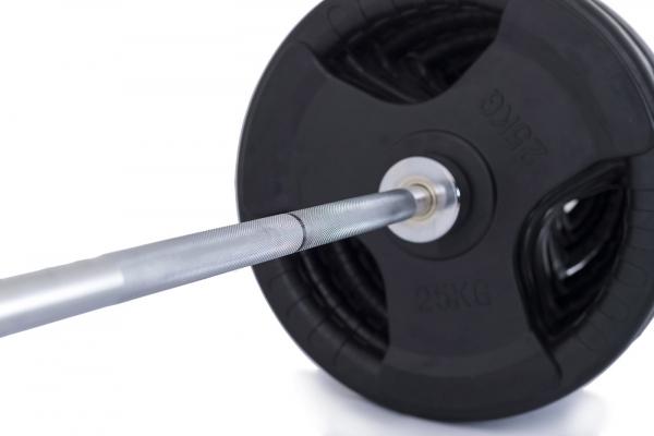 Olympijská činka TRINFIT 230 kg pugumovaná x