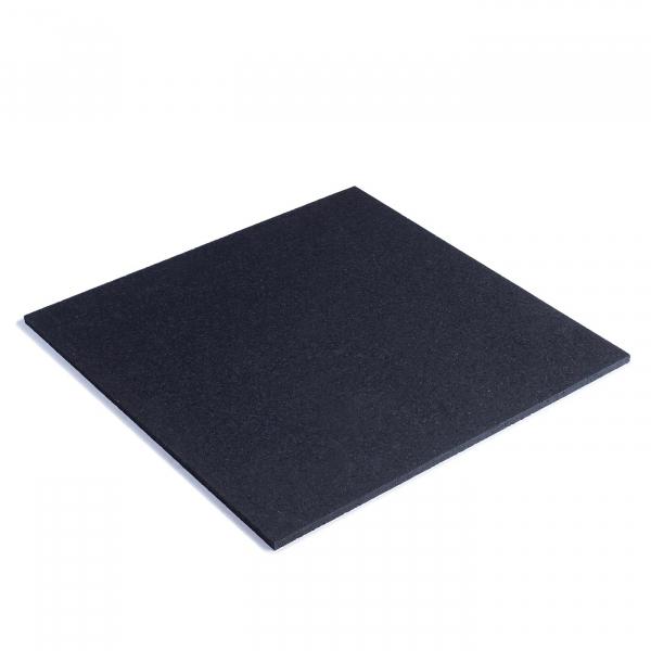 TRINFIT Gumová podložka pod činky 50 x 50 cm černá