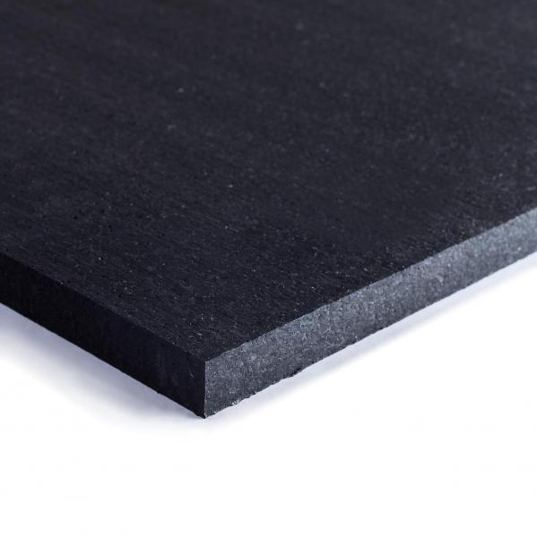 TRINFIT Gumová podložka pod činky 100 x100 x 2cm černá_01