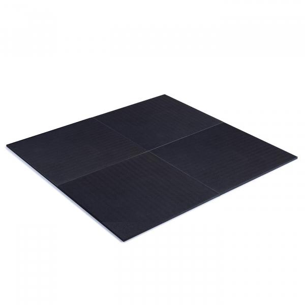TRINFIT Gumová podložka pod činky 100 x100 x 2cm černá_skladba