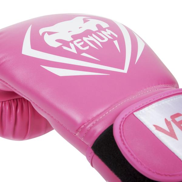 Boxerské rukavice Contender růžové VENUM vel. 8 oz detail