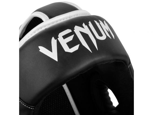 Chránič hlavy Elite černý bílý VENUM detail logo