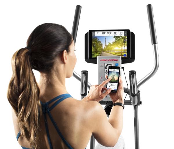 Recumbent Rotoped PROFOM Hybrid Trainer přípojka na mobil