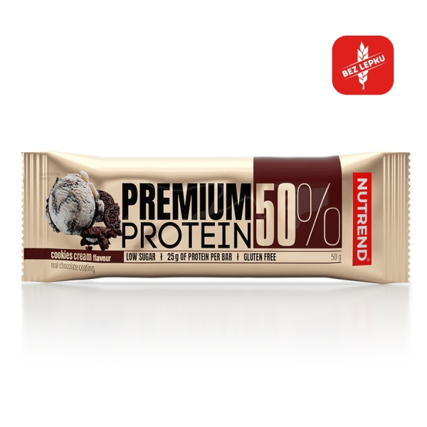 NUTREND Premium Protein 50% Bar 50 g cookies cream