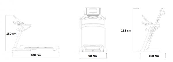 Běžecký pás rozměry