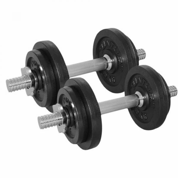 Činky jednoručky dumbbellset-20kg-with-2-bars-screw