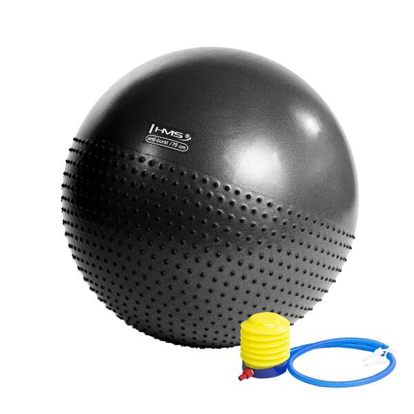 Gymnastický masážní míč HMS YB03 černý