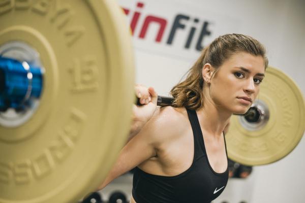 Olympijská činka TRINFIT 80 kg promo 2