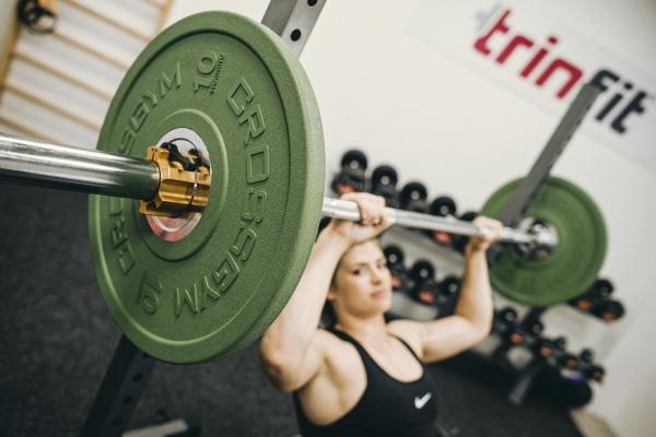 Olympijská činka TRINFIT 80 kg promo 5