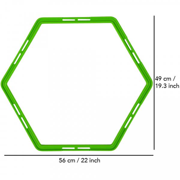 Tréninkový set TUNTURI Agility Grid rozměry
