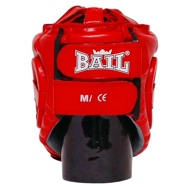 Boxerská přilba Standart BAIL červená zezadu