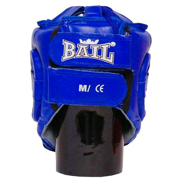 Boxerská přilba Standart BAIL modré zezadu