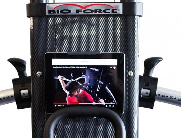 Posilovací věž  FINNLO Bio Force Pro 5000 držák na tablet 3