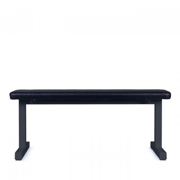Posilovací lavice na jednoručky FITHAM Posilovací lavice rovná PROFI černá bok