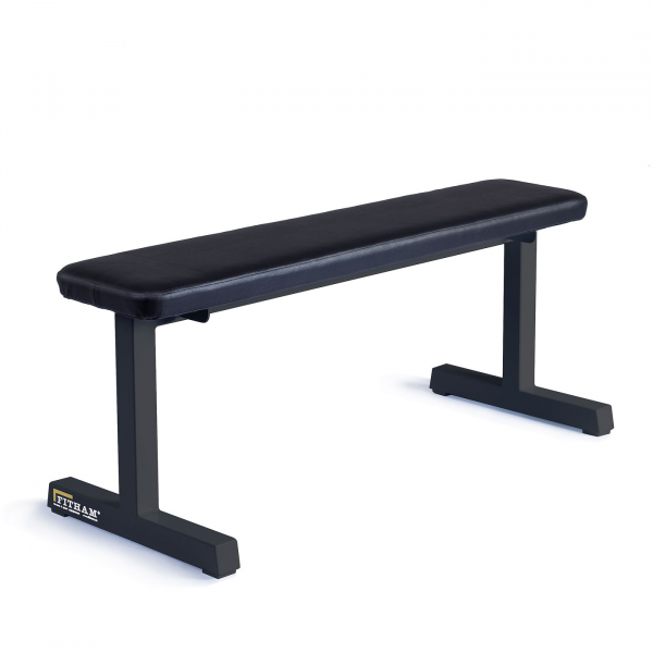 Posilovací lavice na jednoručky FITHAM Posilovací lavice rovná PROFI černá úhel