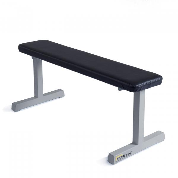 Posilovací lavice na jednoručky FITHAM Posilovací lavice rovná PROFI šedá
