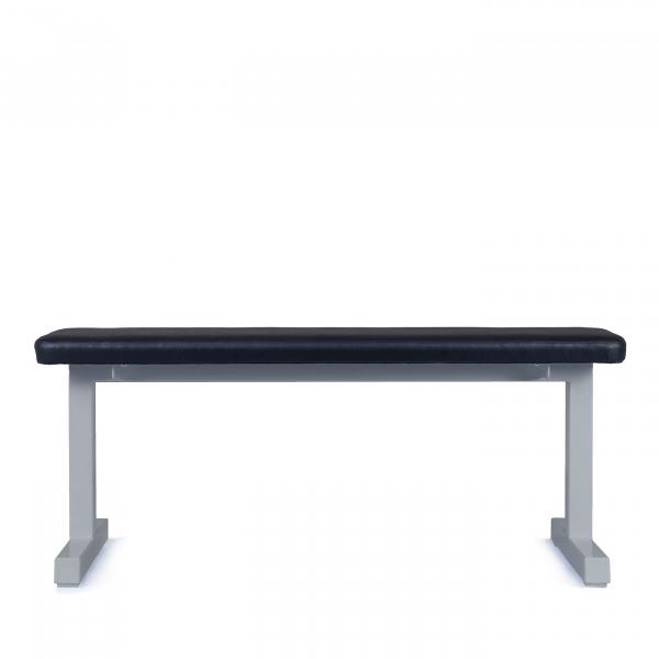 Posilovací lavice na jednoručky FITHAM Posilovací lavice rovná PROFI šedá bok