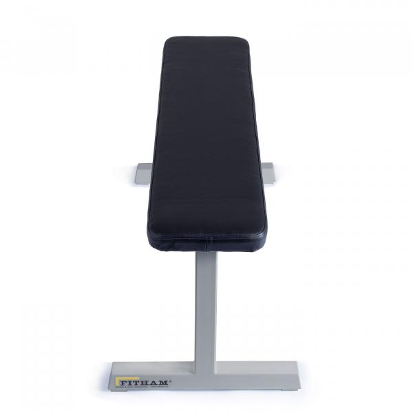 Posilovací lavice na jednoručky FITHAM Posilovací lavice rovná PROFI šedá přední pohled