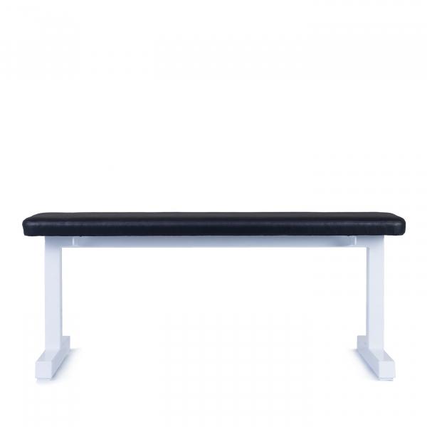 Posilovací lavice na jednoručky FITHAM Posilovací lavice rovná PROFI bílá bok