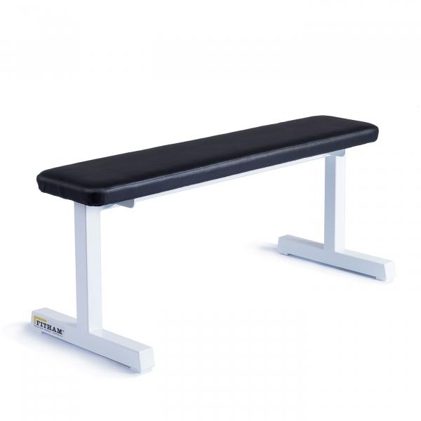 Posilovací lavice na jednoručky FITHAM Posilovací lavice rovná PROFI bílá úhel