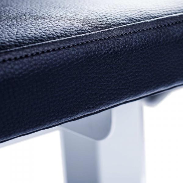 Posilovací lavice na jednoručky FITHAM Posilovací lavice rovná PROFI bílá koženka