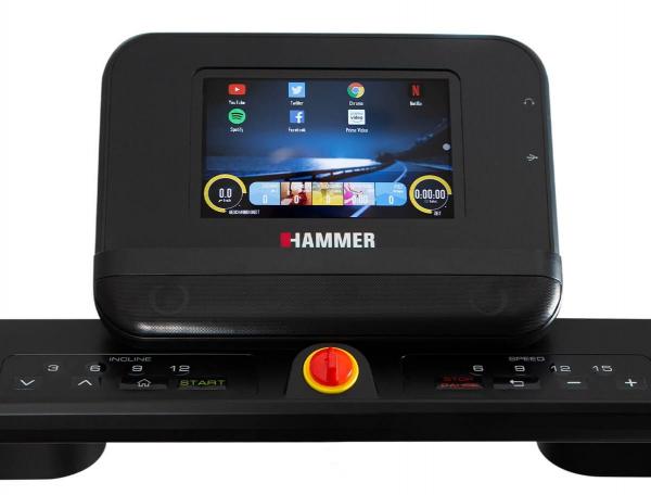 Běžecký pás Běžecký pás Hammer Life Runner LR22i TFT počítač 1