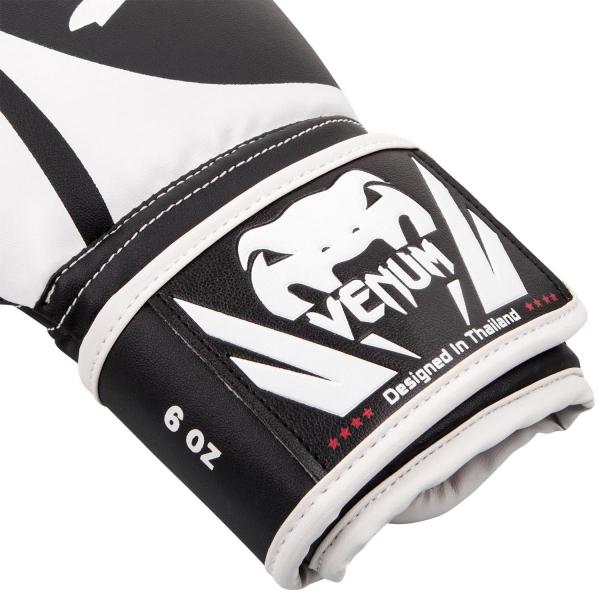 Boxerské rukavice - dětské Challenger 2.0 Kids černé bílé VENUM omotávka