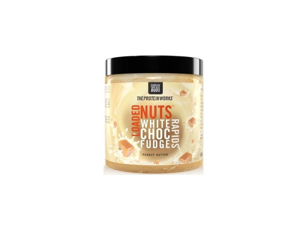 TPW Loaded Nuts Peanut Butter 500 g white choc
