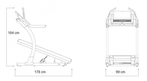 Běžecký pás NordicTrack X22i_rozměry