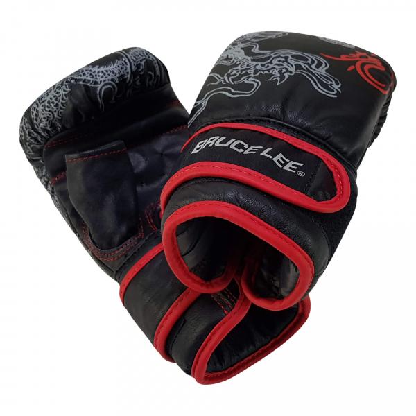 Boxerské rukavice na pytel nebo sparring BRUCE LEE Deluxe detail