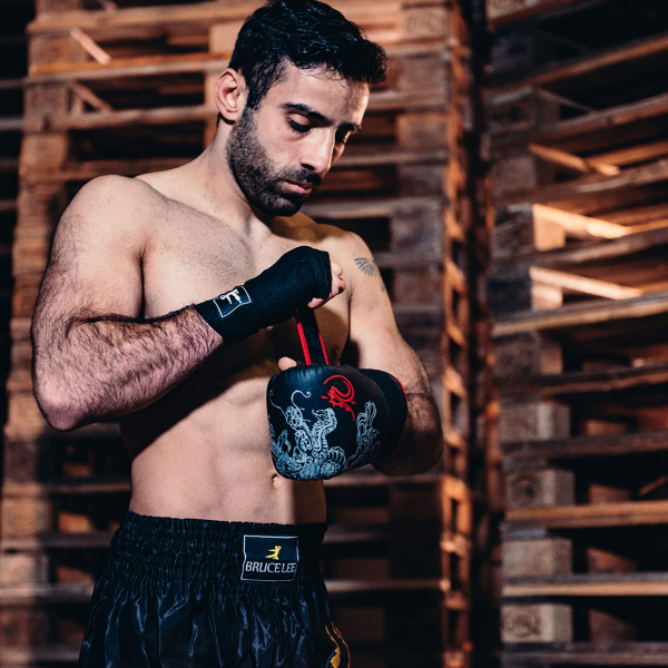 Boxerské rukavice na pytel nebo sparring BRUCE LEE Deluxe workout
