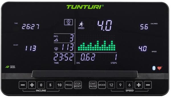 Běžecký pás Běžecký pás Tunturi T40_počítač_01