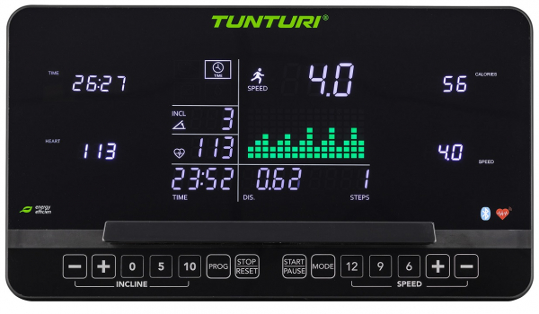 Běžecký pás Běžecký pás Tunturi T60 Performance_počítač_01